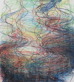 Survey 4 - Abstract Drawing - Colored Pencils on Archival Paper - Contemporary