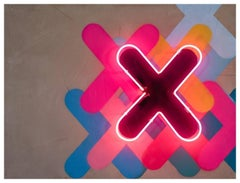 "Generation X - Neon Series 36x48"" Contemporary Graffiti and Neon on Wood Panels"