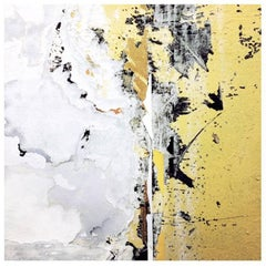 Underground - Museum Quality Archival Print - White, Yellow - Abstract