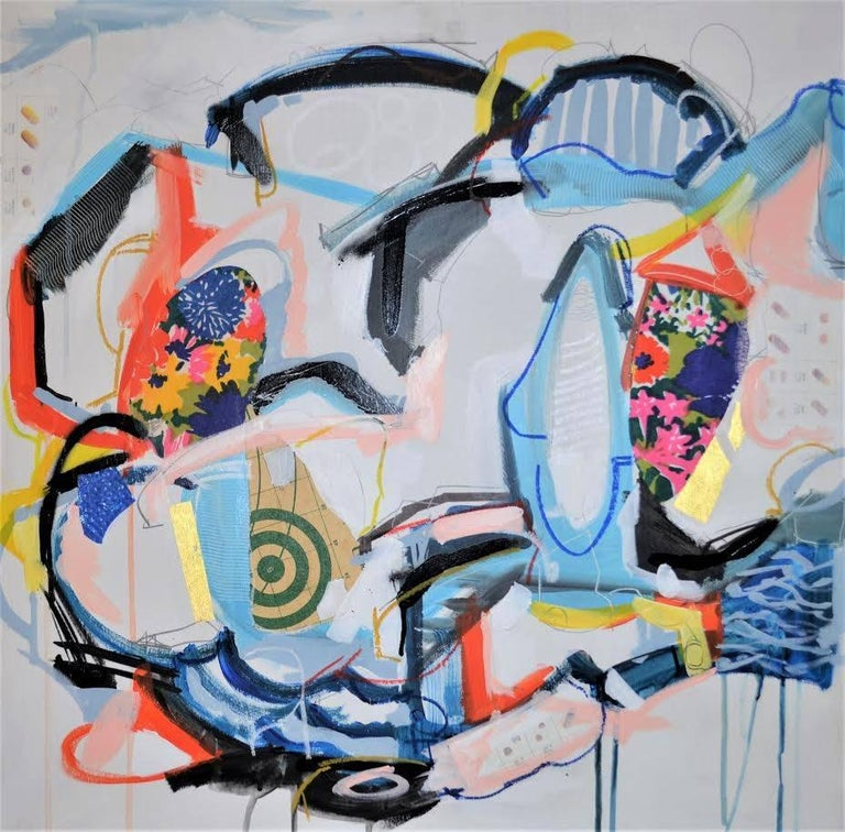 Matt Demers Abstract Painting - By and By - Original Mixed Media Collage Painting - Abstract Modern