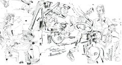 Harold Lopez Nussa Trio - Ink on Paper - Original Contemporary Sketch