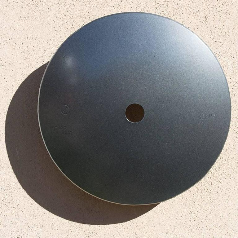 Michael Freed and Adam Rosen Abstract Sculpture - Terrace Disk, metallic steel