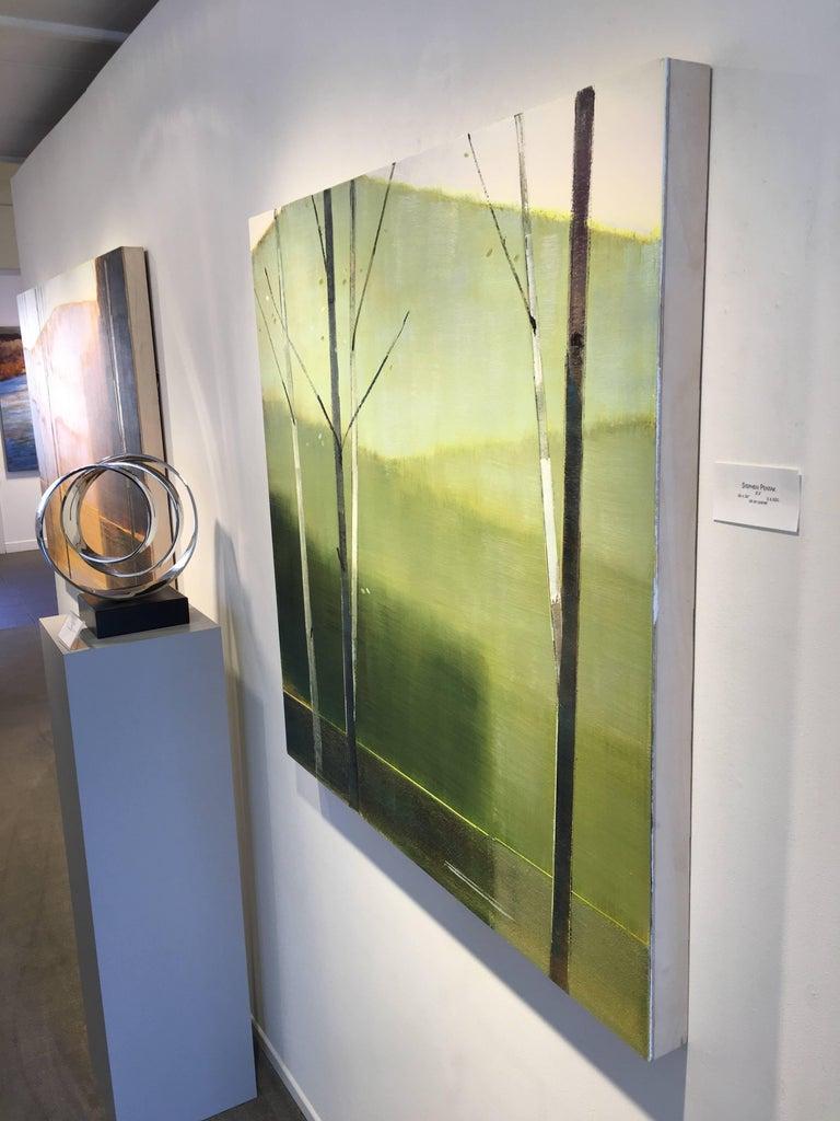 2016, II.IV - Brown Landscape Painting by Stephen Pentak