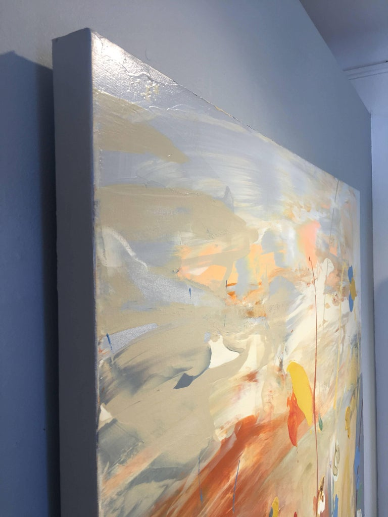 Cytheria - Beige Abstract Painting by Daniel Phill