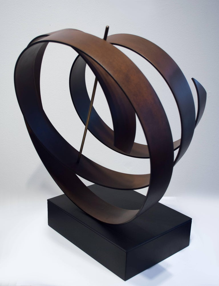 Olympiad - Gold Abstract Sculpture by Sally Hepler