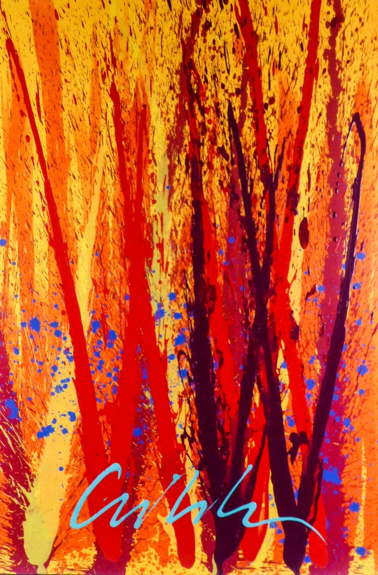 Dale Chihuly Yellow Spears Painting At 1stdibs