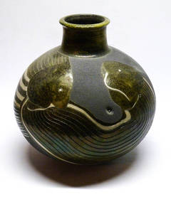 Cat Fish Vase