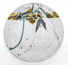 White Crackle Charger