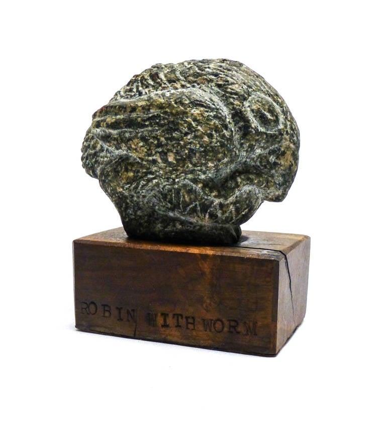 James Washington Jr. Figurative Sculpture - Robin with Worm