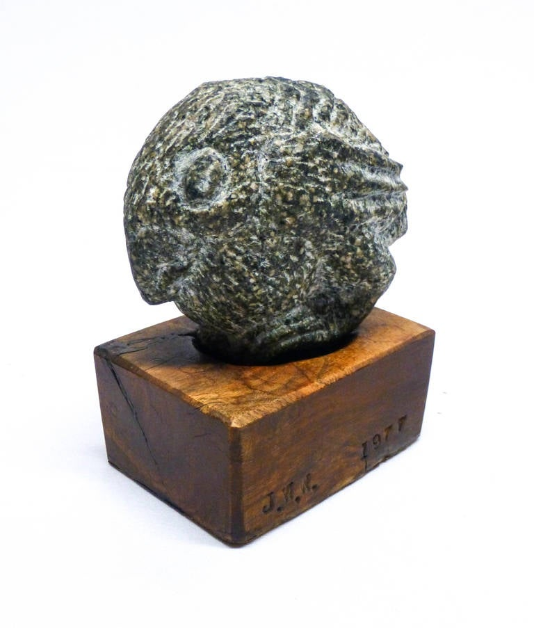 Robin with Worm - Modern Sculpture by James Washington Jr.