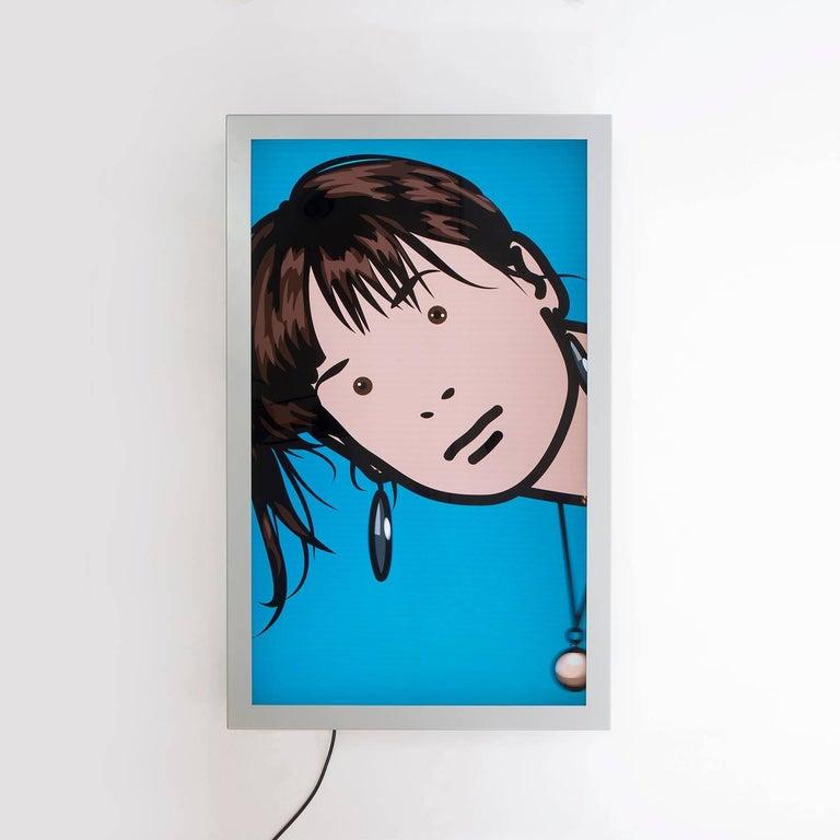 Contemporary Ann Blinking Video Installation