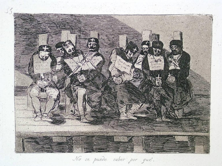 Francisco Goya Figurative Print - One Can't Tell Why - Proof from the Disasters of War