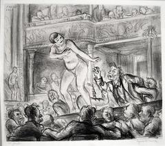 Irving Place Burlesque, lithograph, 1928