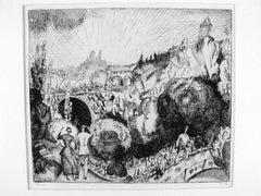 Paysage au Buttes-Chaumont (2nd Planche), 1920-21