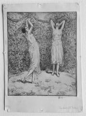 Dance in the Garden (Two Figures)