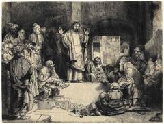 "Christ Preaching (""La Petite Tombe"") ca. 1657"