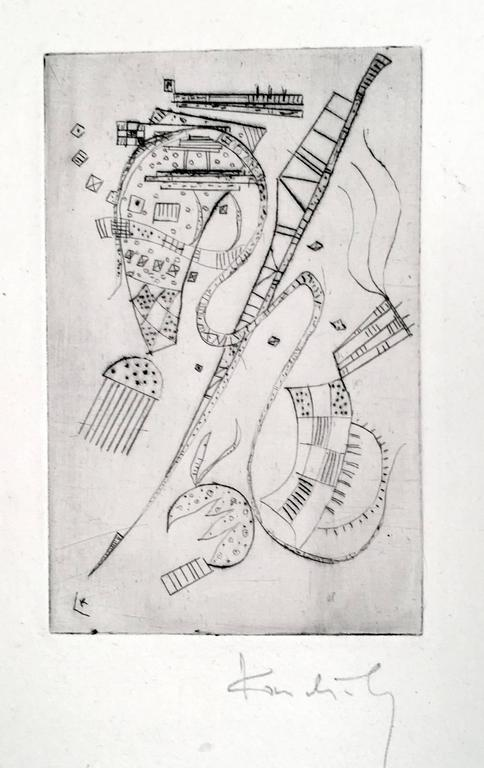 """Etching for Stephen Spender """"Fraternity"""""""