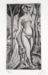 Baigneuse Nue aux Arbres (Nude Bather amidst Trees)