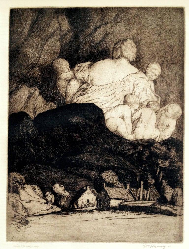 William Strang, R.A., R.E. Figurative Print - Mother Earth