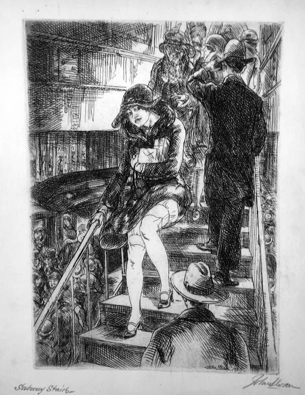 John Sloan Subway Stairs Print For Sale At 1stdibs