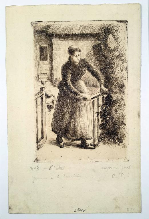 Femme a la Barriere (Woman at the Gate)