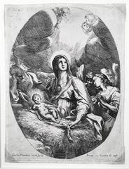 Virgin, Joseph and Child in Oval