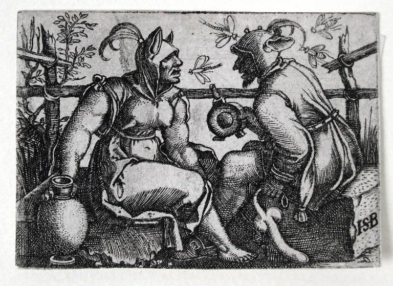 Hans Sebald Beham Figurative Print - Two Fools (or Fool and Foolish Woman)