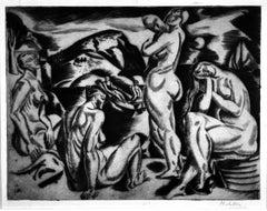 Four Nudes in a Landscape