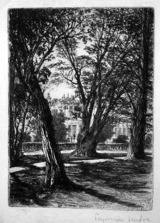Sir Francis Seymour Haden, R.A. - Kensington Gardens (The Small Plate) 1