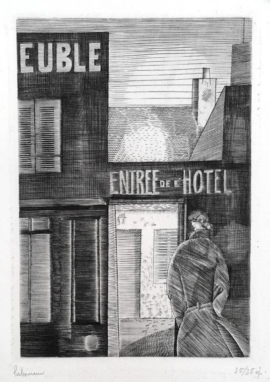 Jean emile laboureur hotel meubl print for sale at 1stdibs for Location meuble new york