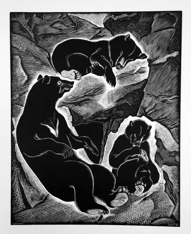 Barbara Latham Animal Print - Bear Family