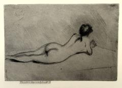 Study From the Nude of a Girl Lying Down