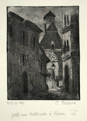 Narrow Street in Rouen (Petite Rue Nationale, a Rouen)
