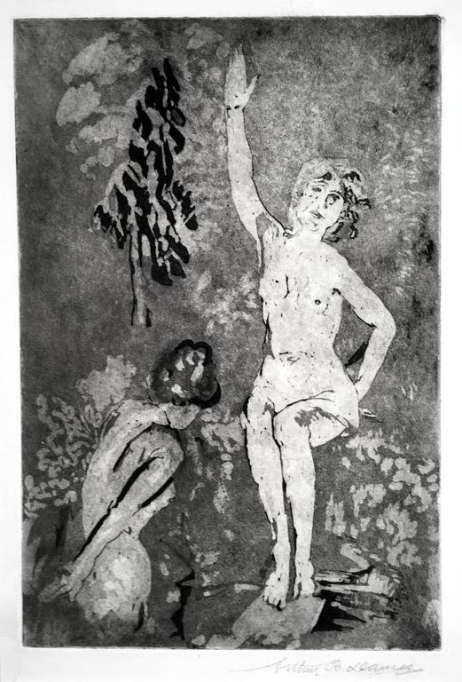 Arthur B. Davies Nude Print - Amber Garden