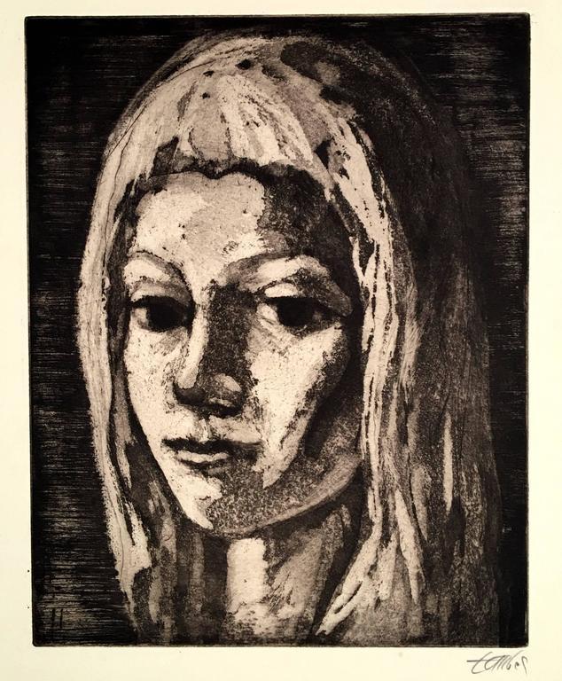 Frederic Taubes Portrait Print - Julia