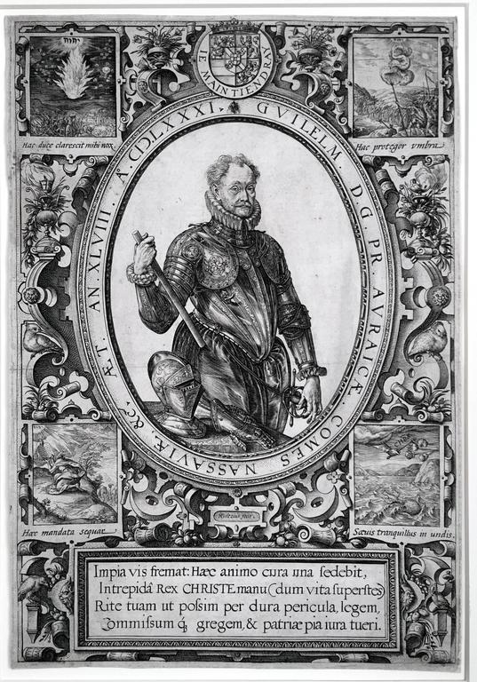 Hendrik Goltzius Portrait Print - William of Orange and Charlotte de Bourbon - a pair