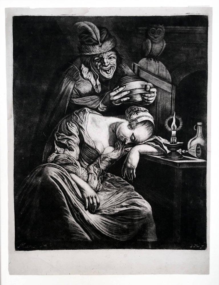 Jan van der Bruggen Figurative Print - A Drunken Night Cap