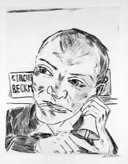 Max Beckmann - The Barker (Self Portrait)