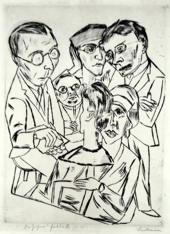 Max Beckmann - The Artist (or Draughtsman) in Society (Der Zeichner in Gesellschaft) 1