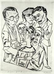 The Artist (or Draughtsman) in Society (Der Zeichner in Gesellschaft)
