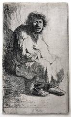 Beggar Sitting on a Bank (Self Portrait)