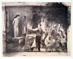 George Bellows - The Life Class, No. 2 - unique impression
