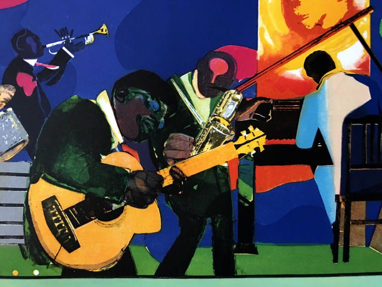 Jamming at the Savoy - Print by Romare Bearden
