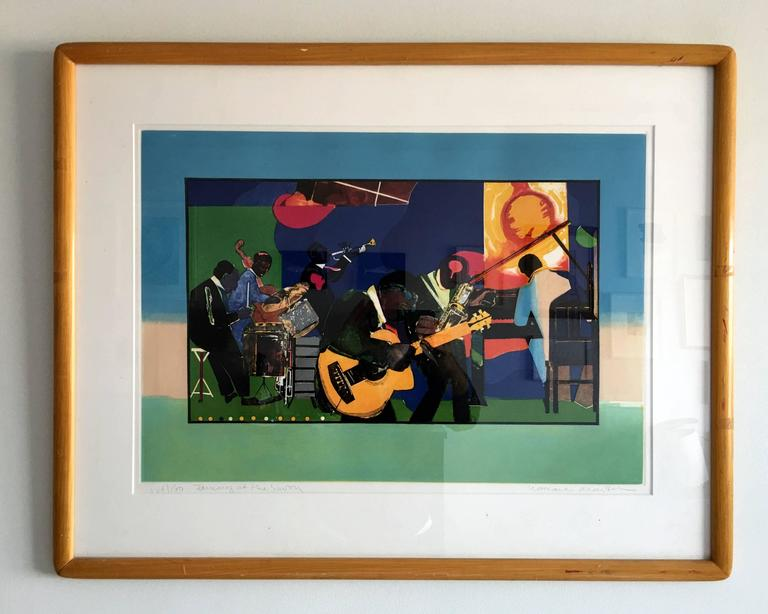 Jamming at the Savoy - American Impressionist Print by Romare Bearden