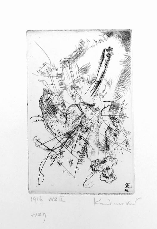 Wassily Kandinsky Abstract Print - Etching 1916 Number II