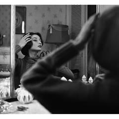 Audrey Hepburn at Her Dressing Room Mirror (From Left)