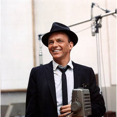 Frank Sinatra at a Capitol Records Recording Session in Los Angeles