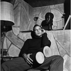 Marlon Brando at his Beverly Glen Home in Los Angeles