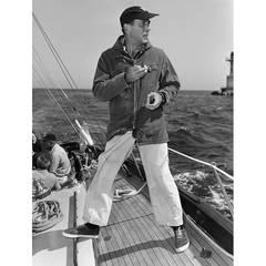 "Humphrey Bogart on his Yacht ""Santana"""