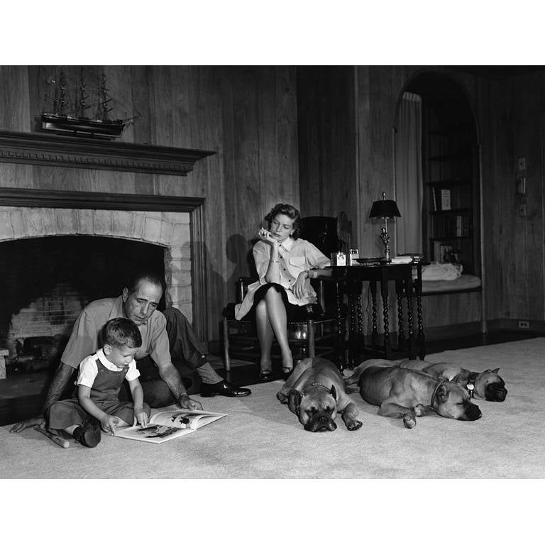Sid Avery - Humphrey Bogart and Lauren Bacall at Home in